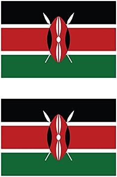 Two Pack Tanzanian Flag Sticker FA Graphix Decal Self Adhesive Vinyl Tanzania TZA TZ