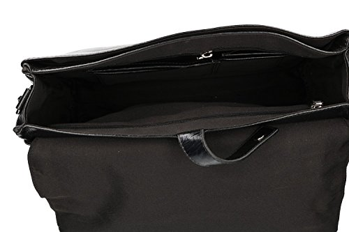 Vf340 Man Leather Folder Flap Messenger Bag 916 In With Real Monaco Black Orna 7PpPUrdq