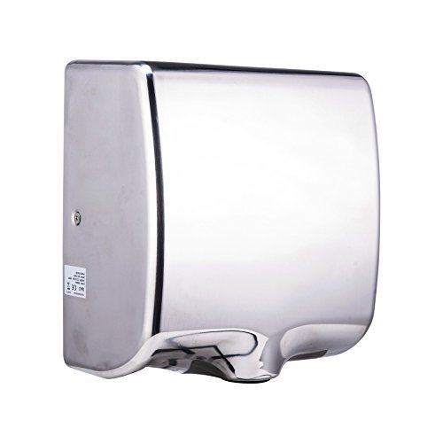 TEK MOTION Electric Hand Dryer Machine Commercial for Bathroom, Powerful 1800W - Dry Hands in 10s, Low Noise 70 dB, Polished Stainless Steel