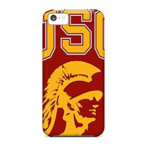 Shock-dirt Proof Usc Trojans Case Cover For Iphone 5c