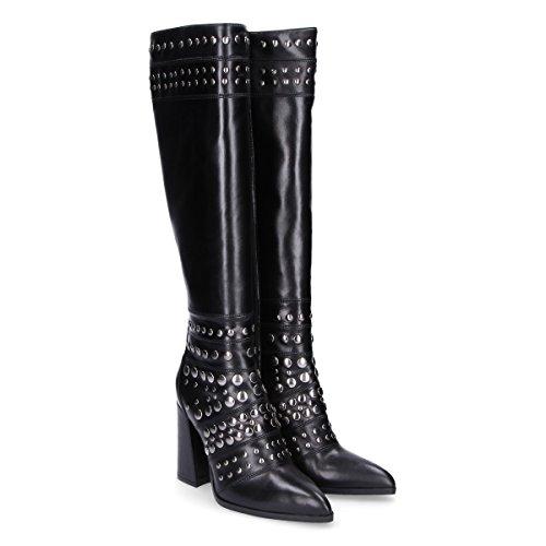 Giampaolo Viozzi Vrouwen Ed607b Zwart Lederen Laarzen