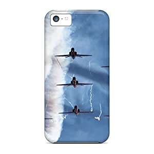 New Style Tpu 5c Protective Case Cover/ Iphone Case - Airplane Flight Sky Smoke