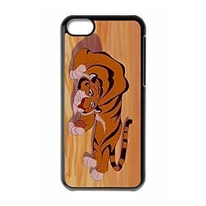 Disney Aladdin Character Rajah funda iPhone 5c caja funda del teléfono celular del teléfono celular negro cubierta de la caja funda EEECBCAAB16614