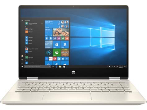 HP Pavilion x360 Convertible 14-dh0014ne Intel Core i7-8565U, 14 Inch, 16GB RAM, 256GB SSD, NVIDIA GFORCE 2GB Graphic, Win10, Eng-Ara KB, Touchscreen,Warm gold cover,