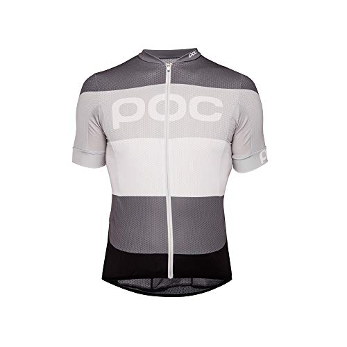 (POC Essential Road Logo Jersey, Short Sleeve Cycling Jersey, Steel Multi Grey, L)