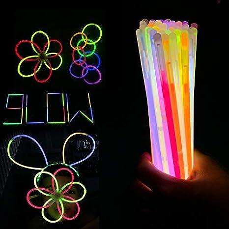6 Glow Bracelets /& Connectors Single Colour /& Assorted Sizes See Description