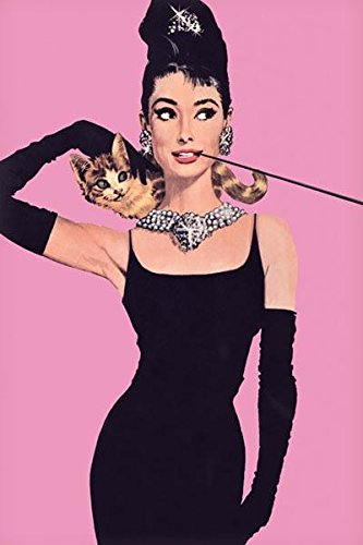 Audrey Hepburn-Pink, Movie Poster Print, 24 by 36-Inch