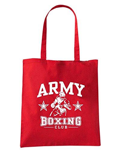 T-Shirtshock - Bolsa para la compra TBOXE0099 army boxing Rojo