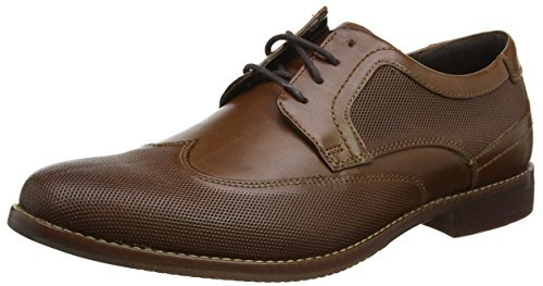 Rockport Style Purpose Perf Wing Tip, Scarpe Stringate Derby Uomo Marrone (Brown)