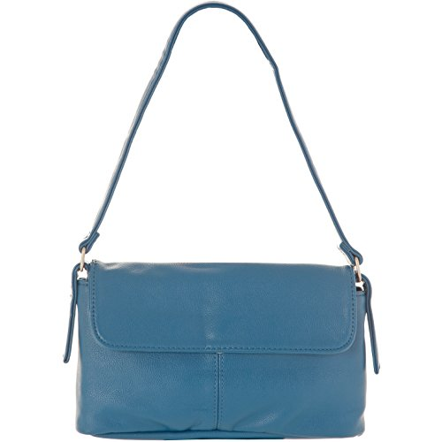 Azur A blau Marrone Donna Mano Zwei Borsa Marone 4qnwYv65xT