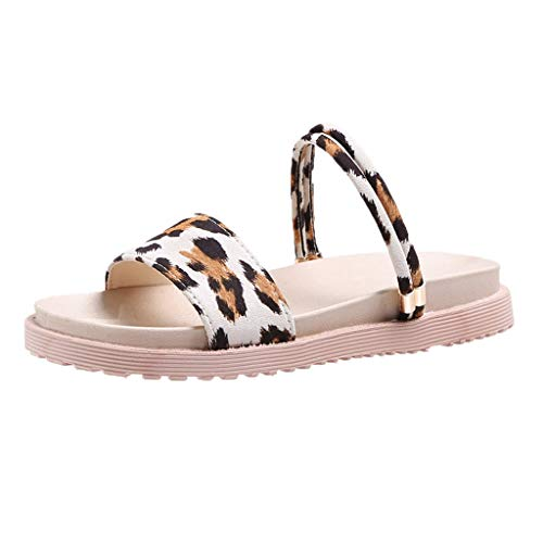 Toimothcn Women's Flip Flops Open Toe Cross Strap One Band Beach Flat Sandals Slides(Beige3,US:6) ()