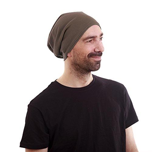 "Satin Lined Beanie Mocha Jersey Cap Unisex (Adult Unisex size 22"" (56cm) around the head)"