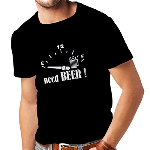 T Shirts for Men I Need More Craft Beer! - Funny Drinking Quotes, Bar Slogans (XX-Large Black -