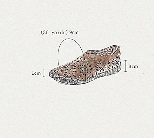 Marron Sandales Profonde Simple 35 Tête En De Peu À Peau Des Plates Respirant 40 Et Femmes Ronde Caoutchouc SHOE Aux Antidérapant Confortable Chaussures Vache Bouche Semelle L'usure YNXZ Marron Résistant wqxCAI