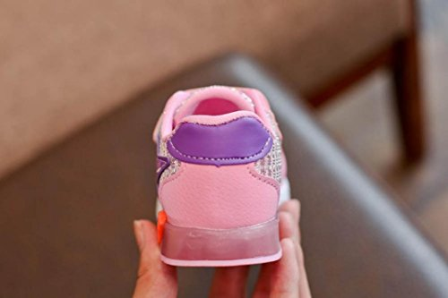 Clode® Baby Art und Weisestern Turnschuhe LED leuchtendes Kind Kleinkind beiläufige helle Sport Schuhe Rosa