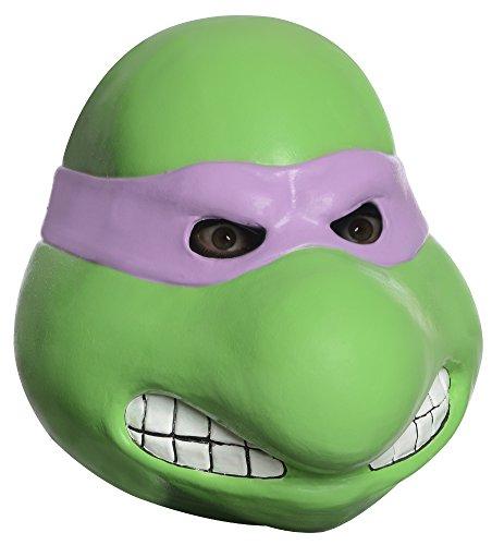 rtles Adult Donatello Overhead Latex Mask, Green, One Size (Overhead Latex Adult Mask)