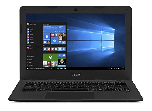 Acer Aspire One Cloudbook 11 Noir (Intel Celeron 2 Go de RAM SSD 32 Go Windows 10) Office 365 Personnel inclus pendant 1 an