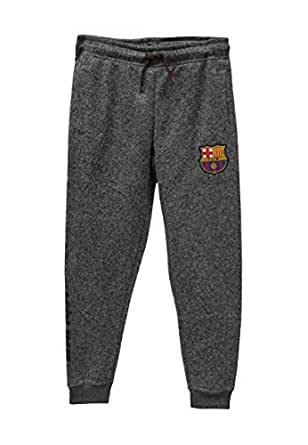 HKY Sportswear Junior Boys FC Barcelona Official Soccer Track Pant Jogger Style Casual Sport Pant - Gray - Medium