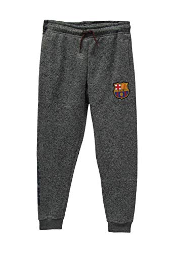 (Junior Boys FC Barcelona Official Soccer Track Pant Jogger Style Casual Sport Pant (Gray, Small))