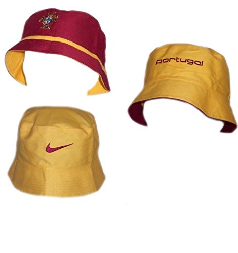 Nike Portugal Mens Hat Official Reversible Bucket Hat Burgundy/Yellow L/XL