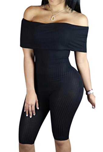 Top LD Womens Off Shoulder Shorts Jumpsuit Playsuit Clubwear free shipping