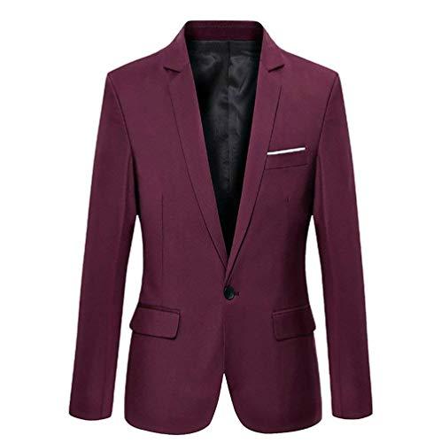 Fit Uomo Elegante Blazer Un Da Winered Casual Slim Smoking Con Top Bottone Autunno Essenziale qfq7UpWr