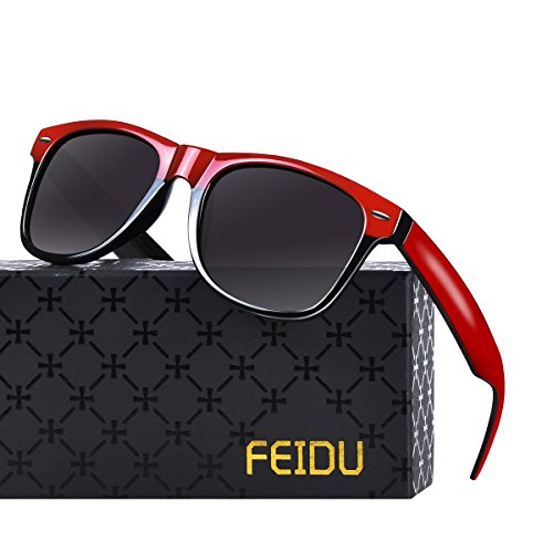 Polarized Sunglasses for Men Retro - FEIDU Polarized Retro Sunglasses for Men FD2149 (black-half ()