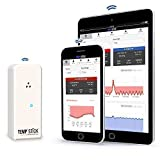 Temp Stick Wireless Remote Temperature & Humidity Sensor. Connects Directly to WiFi. Free 24/7 Monitoring, Alerts & Historical Data. Free iPhone/Android Apps, Monitor from Anywhere, Anytime! - White