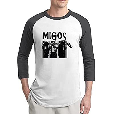 Migos Art Design Men's Raglan Tshirt Crewneck Cotton Simple