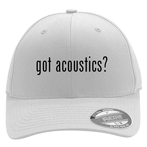 got Acoustics? - Men's Flexfit Baseball Cap Hat, White, Small/Medium