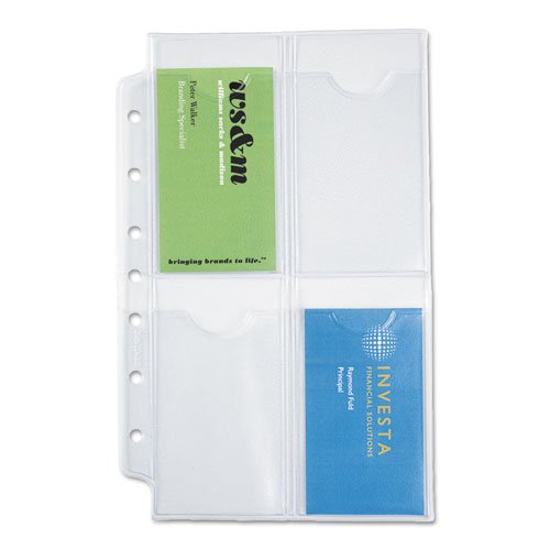 Day-Timer Products - Day-Timer - Business Card Holders for Looseleaf Planners, 5 1/2 x 8 1/2, 5/Pack - Sold As 1 Pack - by Day-Timer