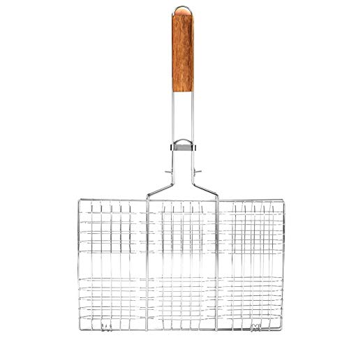 Barbecue Net, BiuZi BBQ Wire Mesh Grill Net Barbecue Grilled Grid Rack Outdoor Camping Picnic Tool