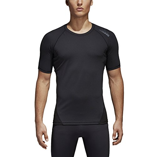 adidas Men's Training Alphaskin Sport Short Sleeve Tee, Black, Medium ()