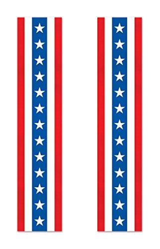 (Beistle 53303 2 Piece Patriotic Fabric Column Buntings, 15