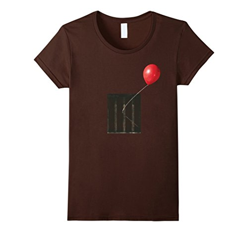 Womens THE CREEPIEST Balloon Ever T-Shirt Small (Creepiest Halloween Costumes Ever)