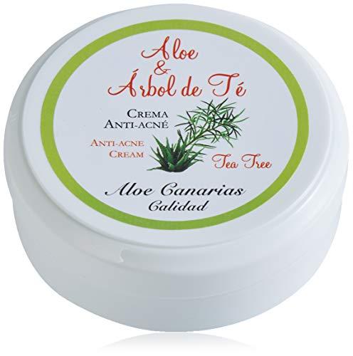 Aloe Canarias 200010 - Crema de aloe vera y arbol del te, anti-acne