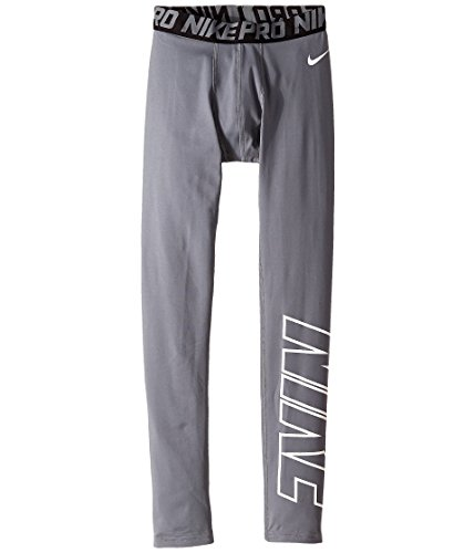 Nike Boy's Pro Hyperwarm HBR Compression Tights (XL (18-20 Big Kids), Cool Grey/White)