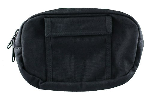 Uncle Mike's Off-Duty and Concealment Nylon Original Zipper Close Gun Pak Belt Pouch Holster, Black