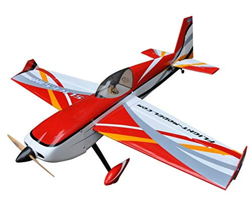 RC Plane MXS-R 20CC 2019 June New Batch Wood Gasoline 3D RC Plane, White & Black Covering