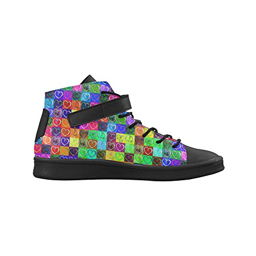 Artsadd Lovely Heart Mosaic Round Toe Zapatos Para Mujer Boost Sneaker