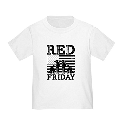 CafePress RED Friday Soldiers Cute Toddler T-Shirt, 100% Cotton