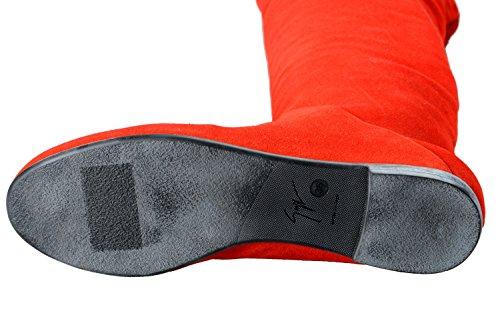 Giuseppe Zanotti Design Dames Rood Suède Leren Schoenen Ons 5.5 It 6 Eu 36