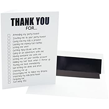 e71079e4a536b Amazon.com : Funny Adult Thank You Cards - 20 Pack of