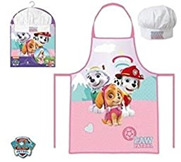 Paw Patrol Skye chef hat and apron set