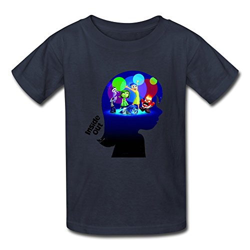 Manga O-Neck Inside Out Cartoon Children Boys And Girls T Shirt Navy US Size M