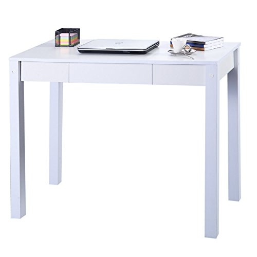 """Price comparison product image Computer Desk PC Laptop Table Study Desk Table Drawer Modern Decor Furniture Home Office Dimensions 30""""x39""""x19.7""""(H xWx D)"""