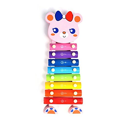 Baidercor 8 Tones Musical Xylophone Toys Cute Standing Rabbit by Baidercor