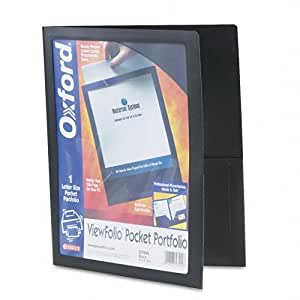 Esselte Pendaflex 57442 ViewFolio Polipropileno Portafolio, 50 hojas de capacidad, Negro / Transparente