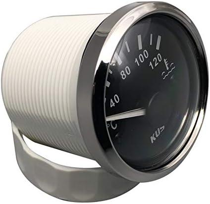 KUS Indicador de temperatura del agua impermeable de 40 a 120/º C con luz de fondo de 12 V//24 V 52 mm