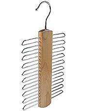 1PCS 11.8Inch Wooden Tie Rack Necktie Hanger Scarf Holder Hook Closet Storage Organizer Tools for Ties Belts Towels